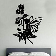 Garden Fairy Decal Vinyl Wall Sticker Art Kids Room Boys Girls Décor
