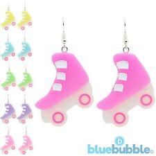 Bluebubble ROLLER DISCO Big Skate Earrings 80s Kitsch Retro Funky Fancy Dress Up