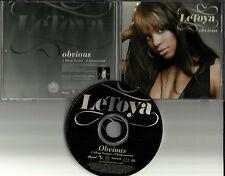 LETOYA Luckett Obvious w/ RARE INSTRUMENTAL PROMO DJ CD Single Destiny's Child