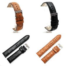 Brown or Black Square Scale Genuine Crocodile Watch Strap : 20mm or 22mm (AQ8)