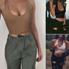 Fashion Women Summer Vest Crop Sleeveless Shirt Blouse Casual Tank Tops T-Shirt