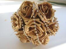 Wedding Flowers Bridesmaid Rose Posy Posie Handtied Bouquet with Diamante Trim