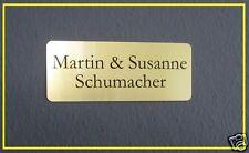 Metall Namensschild, Klingelschild, Briefkastenschild, Türschild 80x30mm, Gravur