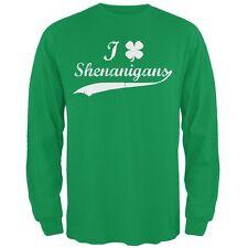 St Patricks Day Shamrock Shenanigans Irish Green Adult Long Sleeve T-Shirt
