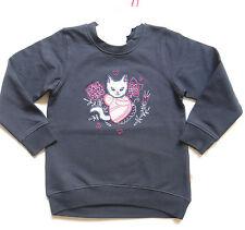 Pezzo D'oro  Shirt Sweatshirt Longshirt mit Katzen Motiv  Gr. 86-104  NEU