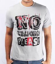 "Brand New Mens ""No weapons please"" designer Tshirts tee Size S M L XL XXL"