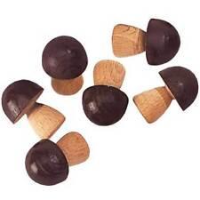 6 Pilze (Holz) für Kaufladen, NEMMER (Made in Germany) * NEU