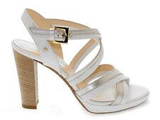 Sandalo con tacco SAMSONITE 102517 in pelle laminata bianco - Scarpe Donna aa44bbbd97d