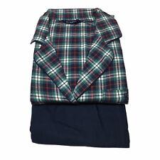 GUASCH pigiama uomo flanella blu/rosso/verde 100% cotone mod PC481 D.664