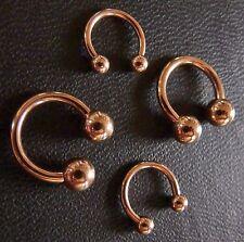Hufeisen Piercing Ring Circular Barbell TITAN rose Gold STUDIO WARE 1,6 & 1,2mm
