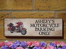 PERSONALISED TOURING BIKE SIGN MOTORBIKE SIGN GARDEN SIGN HONDA BMW HARLEY GIFTS