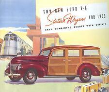 1939 FORD V-8  STATION WAGON SALES BROCHURE