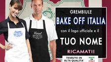 Grembiule BAKE OFF Ricamato PERSONALIZZATO (non stampato) Idea Regalo!