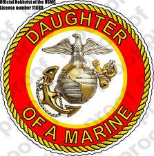 STICKER USMC VET DAUGHTER OF A MARINE