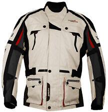 Roleff Racewear - lange Motorradjacke mit Protektoren- Tourenjacke beige/schwarz