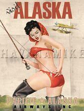 "24x30 1950/'s Elvgren Pin-Up Girl Kite Flying Poster /""The Final Touch/"""