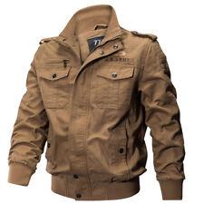 Mens Casual Sports Air Force Zip Military Tactical Pockets Jackets Coats SJ240