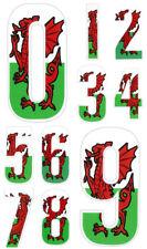 Self Adhesive Weatherproof Wheelie Bin Numbers 17cm Welsh