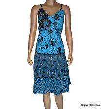 UC-29 Circular Print Cotton Halter Spring Summer Cool Dress with Assorte Designs