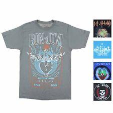 Mens Assorted Rock & Roll Bands Short Sleeve T-Shirts