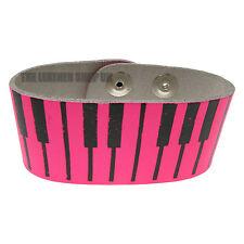 Piano Cuir Imprim_ Gothique Bracelet De Poignet Hommes Artisanal En Angleterre