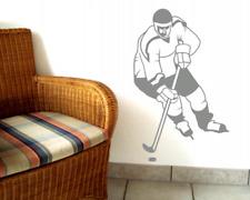 Wandtattoo Eishockeyspieler Wandaufkleber Wandsticker Kinderzimmer  Deko