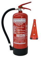 Feuerlöscher 6 kg ABC Pulver EN3 Manometer Prüfnachweis / Standfuß / Wandhalter
