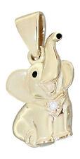 Entzückender Anhänger kleiner Elefant Weißgold od Gelbgold 585 mit Brillant 14Kt