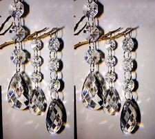 10/30/60PCS Acrylic Crystal Bead Garland Chandelier Hanging Wedding Party Decor