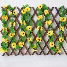Decoration Hanging Garland Fake Ivy Vine Artificial Flowers Silk Sunflower