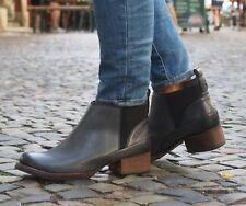 Clarks Schuh MONICA PEARL dark grey dunkel grau Damen Stiefelette Ankle-Boot NEU
