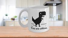 Geek Coffee Mug - T-Rex Nerd Funny Programmer Coding Code Developer Ceramic 11oz