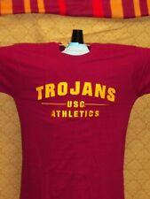 USC Trojans SHIRT Athletics Embroidered MAROON Gold Los Angeles California NWT