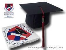 "cappello da laurea ""tocco"" tesi di laurea università Original Grad Hat bordò"