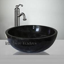 Marble Sink Bathroom Countertop Basin Wash Bath Bowl Black Nero Marquina R14