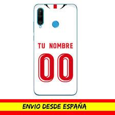 Funda Movil Case Huawei Camiseta Futbol Sevilla FC Nombre Numero Dibujo Carcasa
