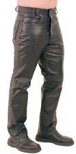 New men`s leather pants black Designer Motorcycle Biker pants trousers - FLP097