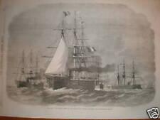 France French Fleet Baltic The Serveillante 1870 print
