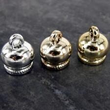 24 x CCB Crown Plastic Gold/silver End Tassel Cap Beads 10mm Hole 18x16mm NP28