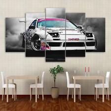 Japanese Mazda RX-7 Drift Car Poster 5 Panel Canvas Print Wall Art Home Decor