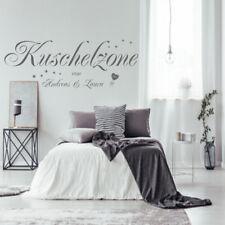 Wandtattoo AA228 Wandaufkleber Schlafzimmer KUSCHELZONE mit Wunschnamen