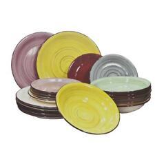 18 pièces service COMBI ENSEMBLE DE VAISSELLE TABLE / Porcelaine Multicolore