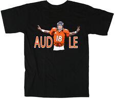 """Peyton Manning Denver Broncos """"Audible"""" Jersey T-shirt Shirt BLACK"""