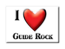 SOUVENIR USA - NEBRASKA FRIDGE MAGNET I LOVE GUIDE ROCK (WEBSTER COUNTY)