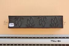 N093 Ancien tampon scolaire bois plastique frise dessin fleur tulipe 14*3,5 cm