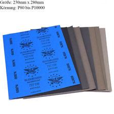 Schleifpapier wasserfest Trocken Nass Schleif Papier Sandpapier Körnung 80-10000