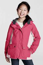 PINK LANDS END JUNIOR GIRLS FLEECE LINED SNOW COAT  BRAND NEW RRP £60