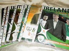 REPUBLIC OF IRELAND INTERNATIONAL HOME PROGRAMMES 1987 - 08 - CHOOSE FROM LIST