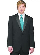 Sizes 34-50 Short 7-Piece Tuxedo Package w/Flat Front Pants, Teal Vest & Tie