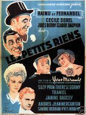 Les petits riens Raimu Fernandel vintage movie poster